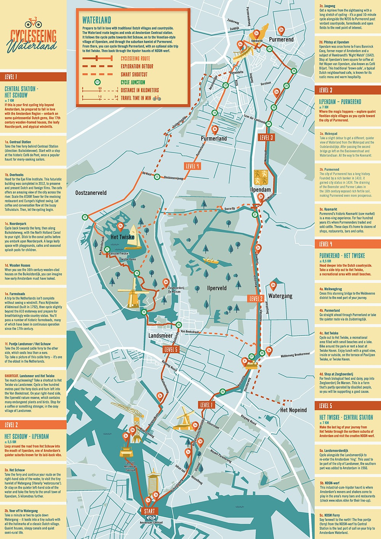 cycleseeing amsterdam kaart waterland